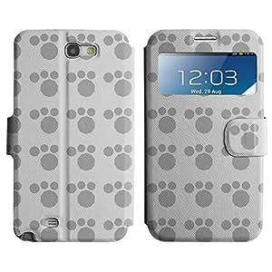 LEOCASE lindo perro Funda Carcasa Cuero Tapa Case Para Samsung Galaxy Note 2 N7100 No.1006558