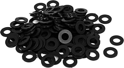 Nylon Flat washers for M10 Screw Bolt 16 mm OD 1 mm Transparent Thickness 100 Pieces