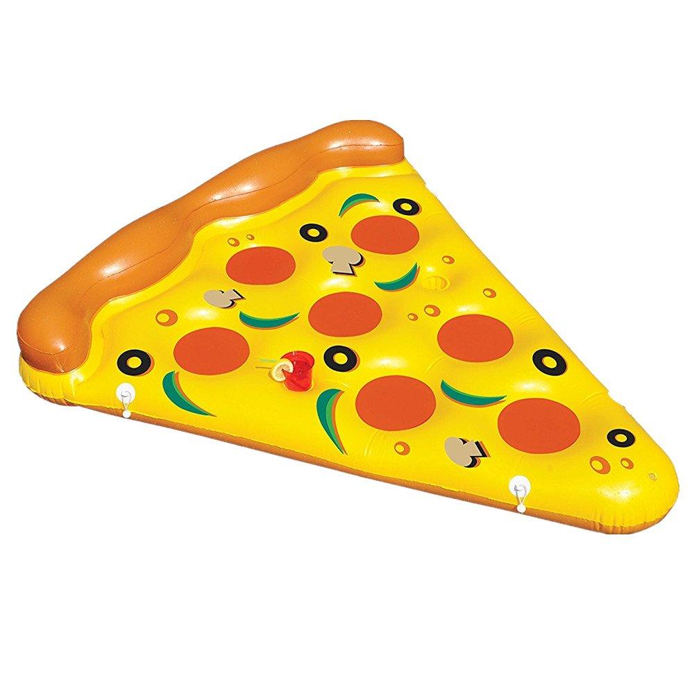 Sunbobo Asiento de los flotadores de la piscina del PVC de la forma de la pizza para los niños adultos Juguete del flotador de los muchachos de las muchachas de los niños
