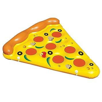 Sunbobo Asiento de los flotadores de la piscina del PVC de la forma de la pizza