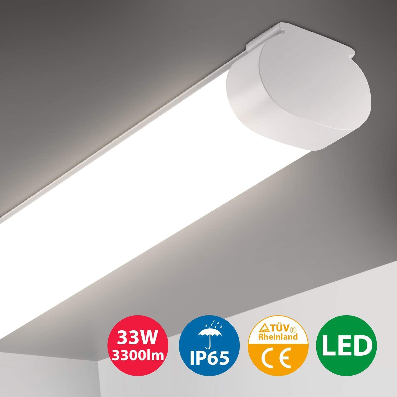Garagenlampe IP65 Wasserdicht led Wannenleuchte B/ürodeckenleuchte Oeegoo led Lampen 55W 6700Lm 120Lm//W LED Feuchtraumleuchte 150cm Leuchtstoffr/öhre 4000K Werkstattlampe
