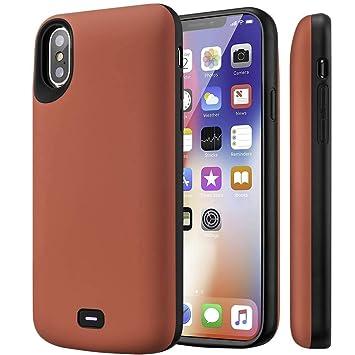Fey-EU Funda Batería para iPhone XS/ X/10, 5000mAh Funda Cargador Portatil Batería Externa Ultra Carcasa Batería Recargable Power Bank Case para Apple ...