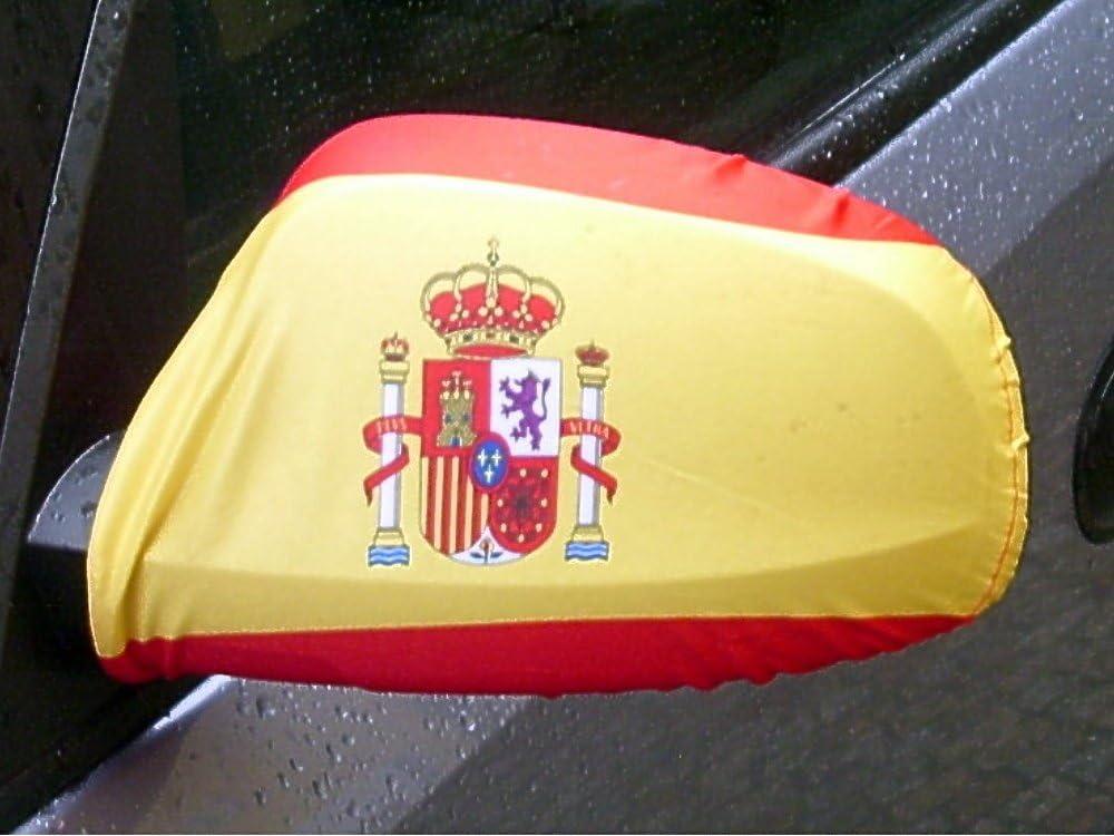 Amazon.es: Espejo Bandera/bandera España con escudo 1 par, Auto ...