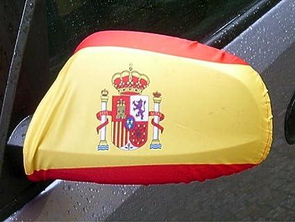Amazon.es: Espejo Bandera/bandera España con escudo 1 par, Auto/Coche Espejo Retrovisor/Auto Espejo FahnenMax – Bandera/revestimiento