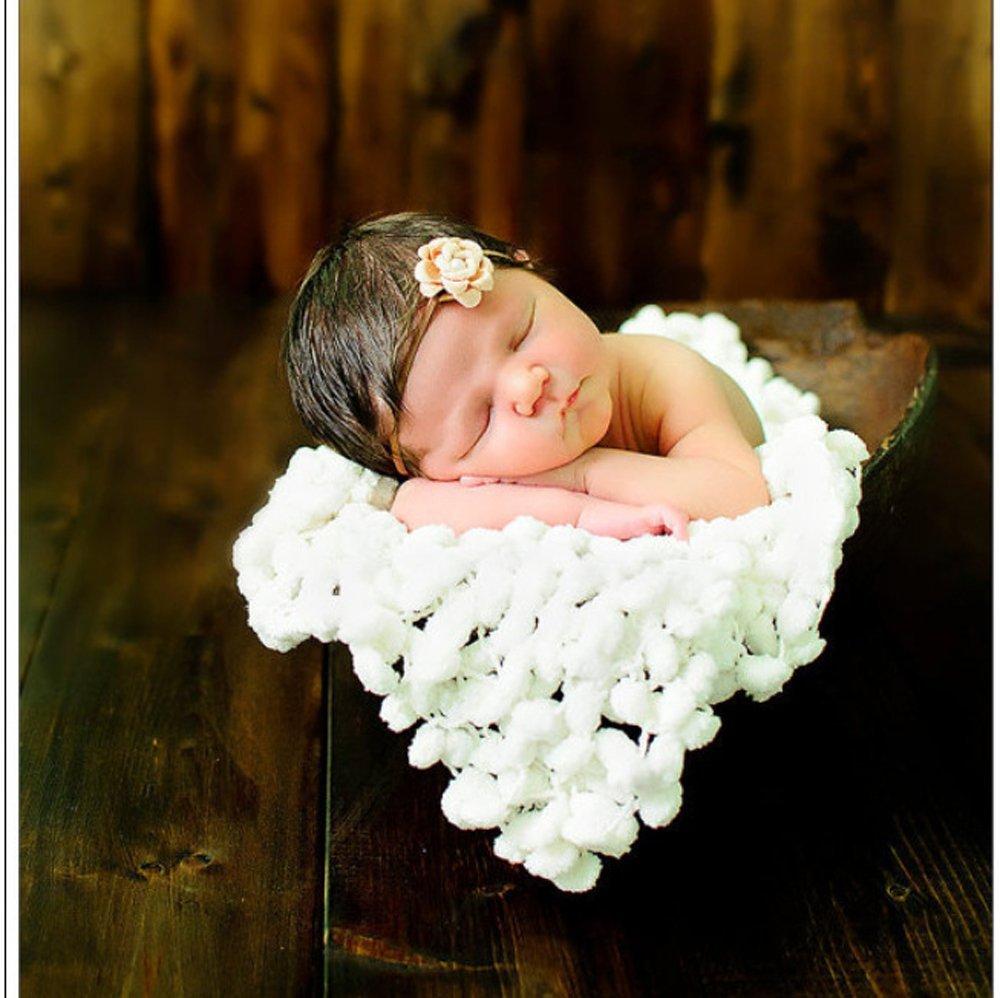 Wuiyepo 100 * 130cm Baby-Fotografie Prop Rose Background Blanket ...