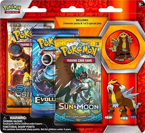 Official Pokemon Pin From Entei Pin Blister Pack Pokemon Entei Pin