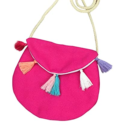 Skyeye Monedero de Color Rojo Rosa Bolsa de Flecos Bolso de ...