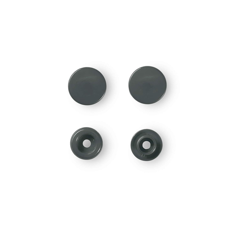 /30/Botones Presi/ón Color-Snaps 12,4/mm Redonda Gris Oscuro Prym/