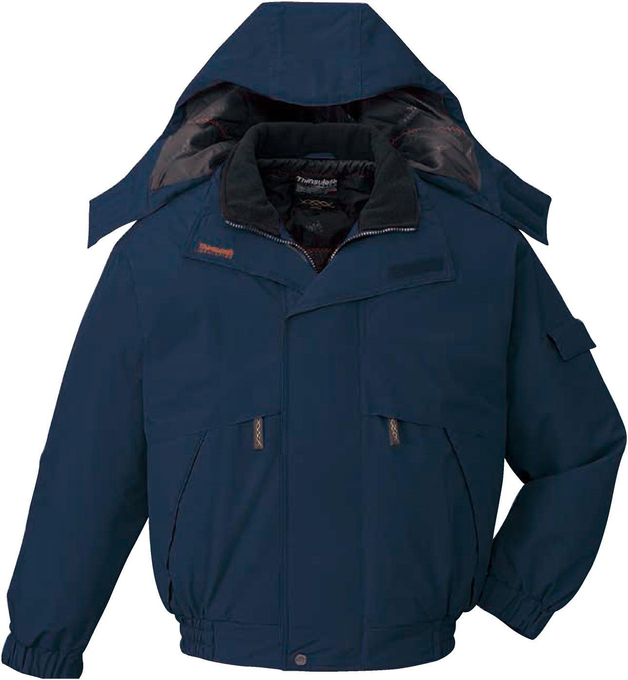 自重堂(JICHODO)防寒ブルゾン水に 寒さに威力を発揮する透湿防水防寒シリーズ jd-048340 B01BNFVVXA L|ネイビー ネイビー L