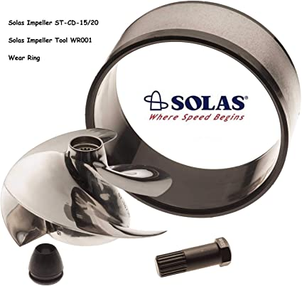Amazon Com Solas Sea Doo Impeller St Cd 15 20 951 Limited Di With Wear Ring And Tool Sports Outdoors