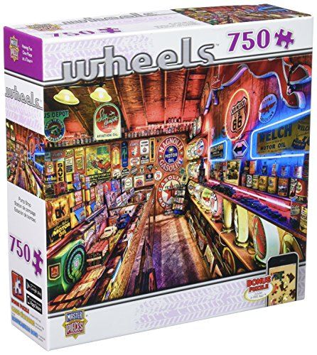 - MasterPieces Wheels Collection Pump Shop Jigsaw Puzzle, 750-Piece