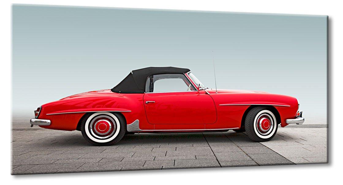 Fine-Art-Manufaktur Mercedes Oldtimer 190 SL Rot Klassiker Traum Bilder XL Chrom Lack   Aus der Serie Oldtimer Klassiker   Farbe  rot   Rubrik  mercedes + Auto Bilder