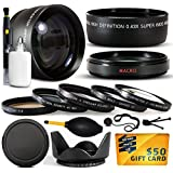 10 Piece Ultimate Lens Package For the Canon PowerShot G10 G11 G12 Digital Camera Includes .43x High Definition II Wide Angle Panoramic Macro Fisheye Lens + 2.2x Extreme High Definition AF Telephoto Lens + Professional 5 Piece Filter Kit (UV, CPL, FL, ND4 and 10x Macro Lens) + Tube Adapter + Flower Lens Hood + Deluxe Lens Cleaning Kit + LCD Screen Protectors + Mini Tripod + 47stphoto Microfiber Cloth + $50 Photo Print Gift Card!