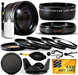 10 Piece Ultimate Lens Package For the Panasonic Lumix DMC-GH3 Mirrorless Micro Four Thirds Digital Camera Includes .43x High Definition II Wide Angle Panoramic Macro Fisheye Lens + 2.2x Extreme High Definition AF Telephoto Lens + Professional 5 Piece Filter Kit (UV, CPL, FL, ND4 and 10x Macro Lens) + Flower Lens Hood + ring adapter + Deluxe Lens Cleaning Kit + LCD Screen Protectors + Mini Tripod + 47stphoto Microfiber Cloth Photo Print !