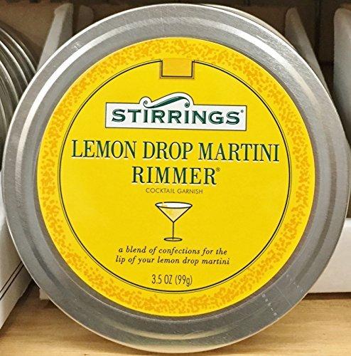 3.5oz Stirrings Lemon Drop Martini Rimmer Cocktail Garnish, Pack of 2