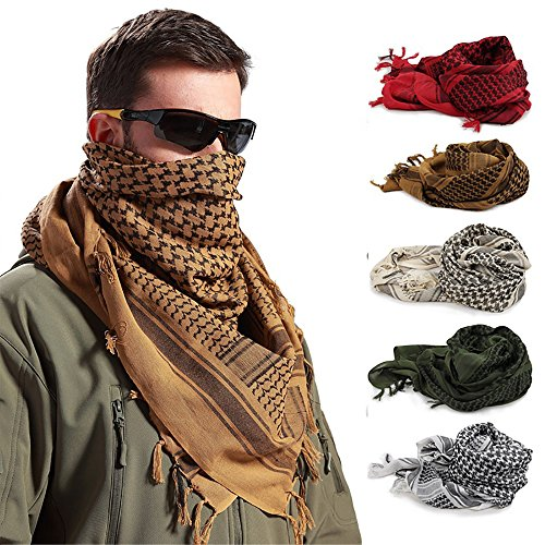 Oksale Military Men Scarves Arab Tactical Desert Army KeffIyeh Scarf Shawl (Khaki)