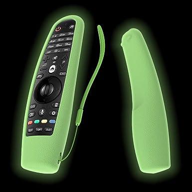 SIKAI - Carcasa de Silicona para LG AN-MR600 Magic Remote Cover (Incluye Funda Antideslizante para LG Smart TV Magic Remote Skin y Correa para el Mando a Distancia): Amazon.es: Electrónica