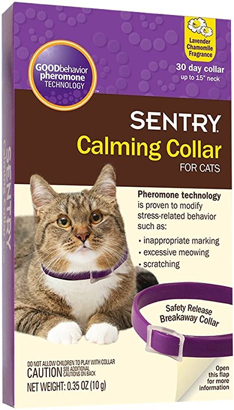 how to use sentry calming collar for cats