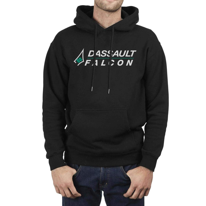 Fleece Long Sleeve IHOID Mens Sweatshirt Dassault-Aviation-Logo