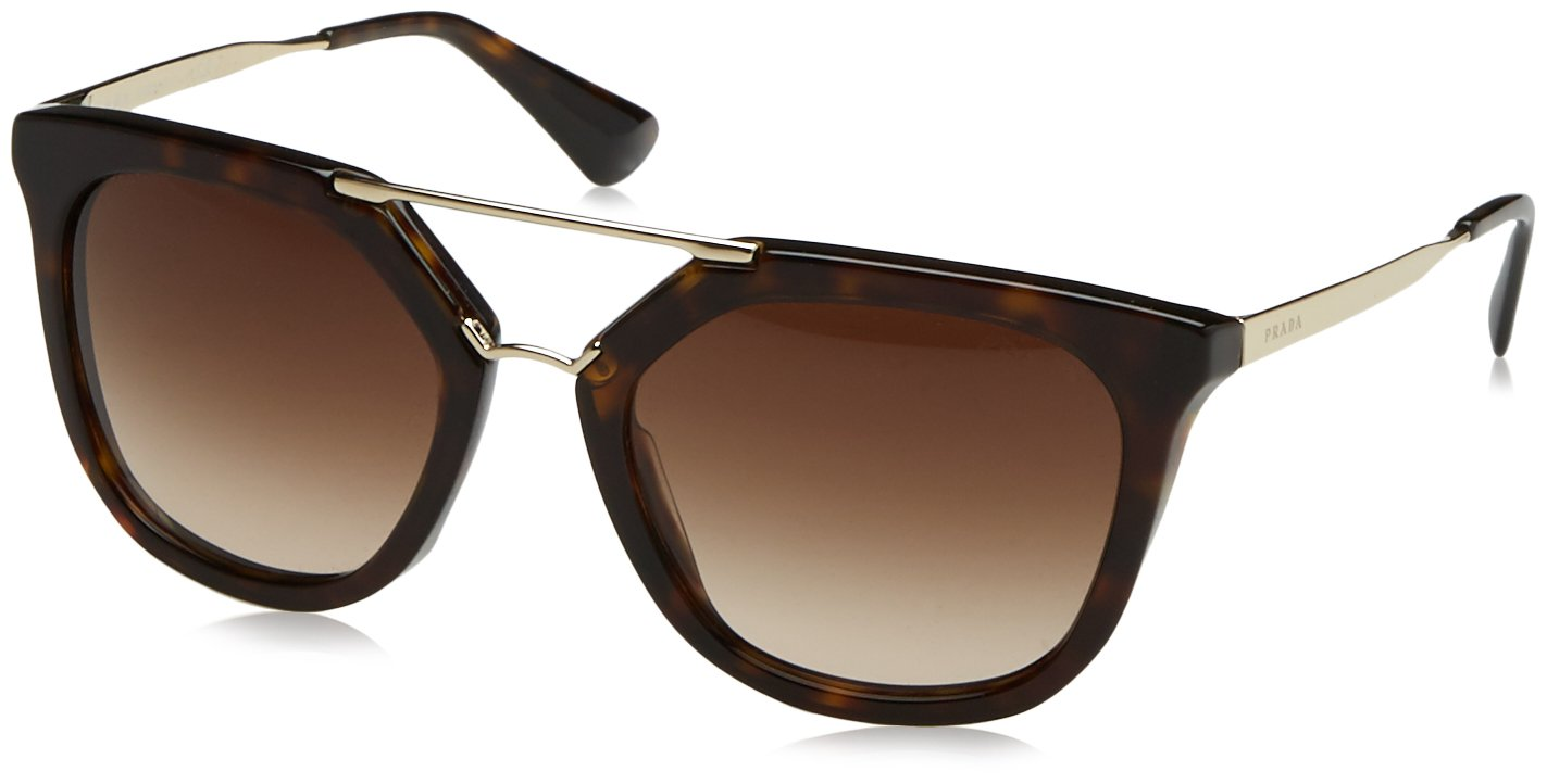 Prada 2AU6S1 Tortoise / Gold 13QS Aviator Sunglasses Lens Category 3 Size 54