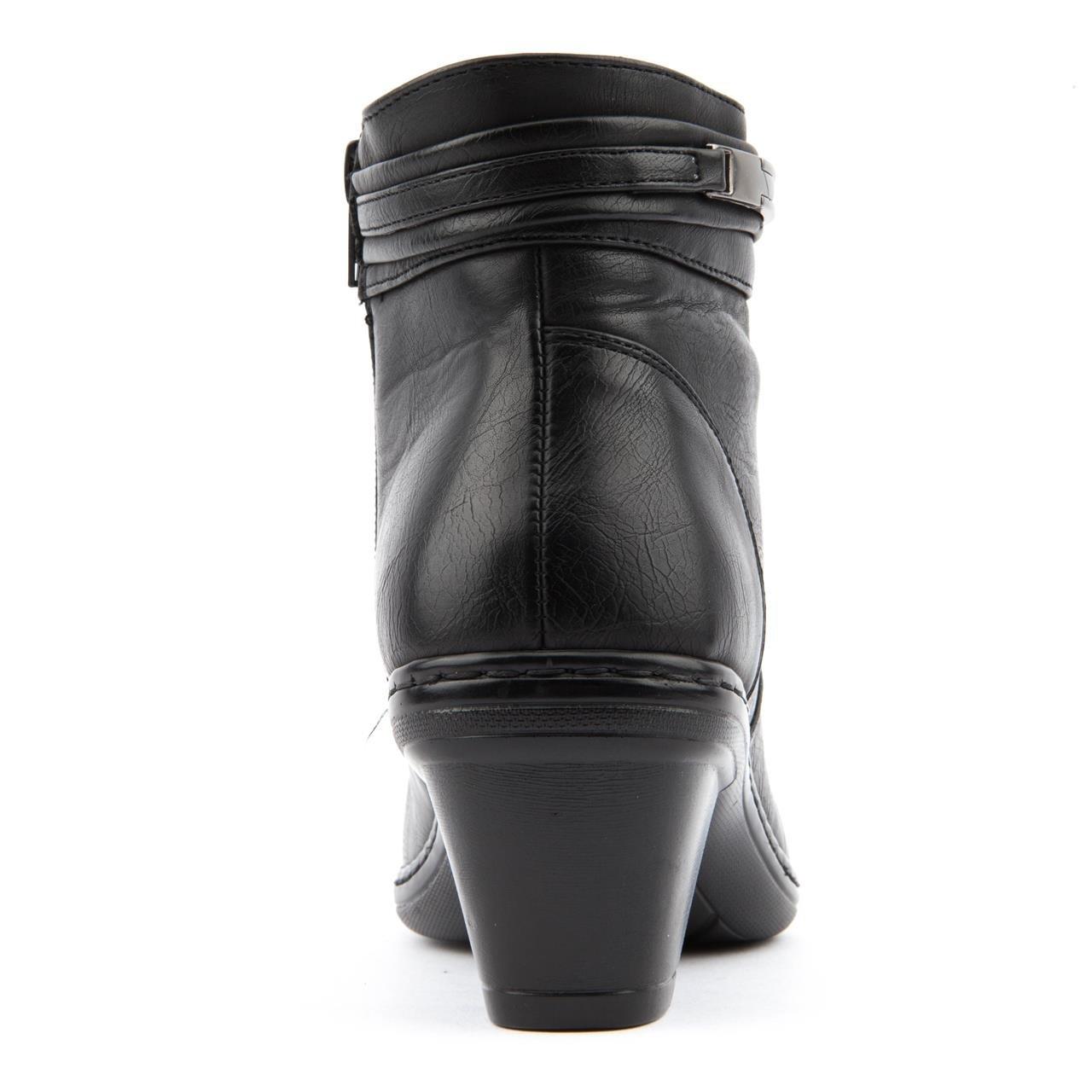 dc6108a9886c Ladies Caravelle Wide Fit Daisy Black Ankle Boots Size 8  Amazon.co.uk   Shoes   Bags