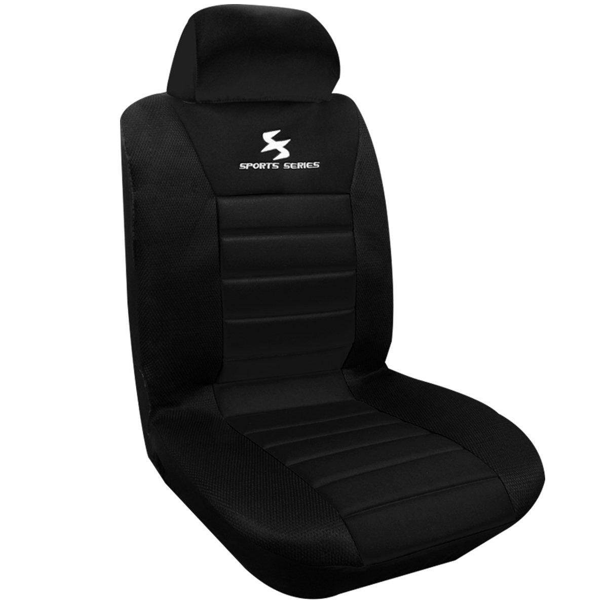 WOLTU AS7256 Coprisedile Anteriore Singolo Universale per Auto Seat Cover Protezione per Sedile di Poliestere Nero/Blu