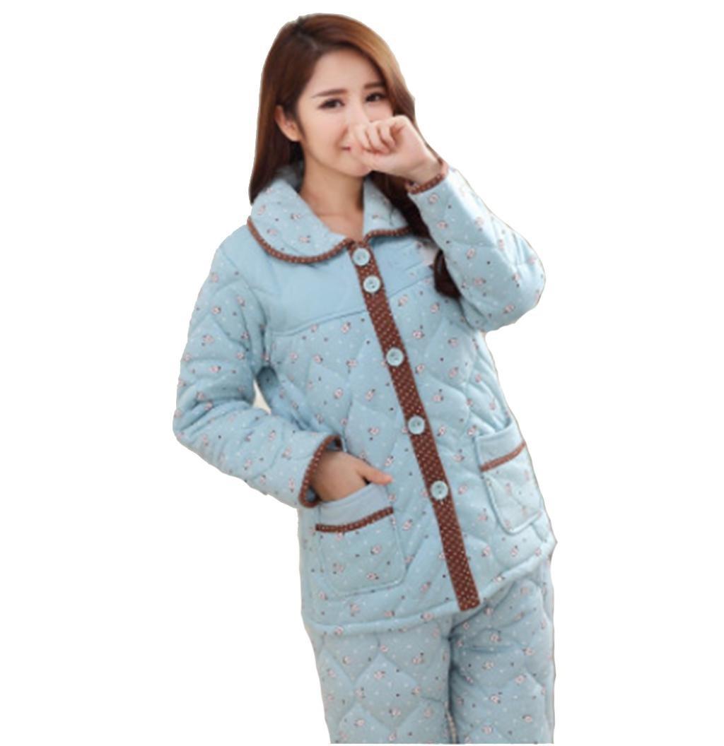 Women 's pajamas Flannel Women' s winter three tier thickening package warm jacket Jiaoku home service , 104 , xl