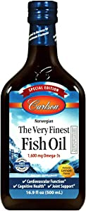 Carlson - The Very Finest Fish Oil, Special Edition Bottle, Norwegian Fish Oil, Wild Caught, Sustainably Sourced Fish Oil Liquid, Lemon, 500 ml