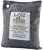 Moso Natural Air Purifying Bag 500-Grams. Natural Odor Eliminator. Fragrance Free, Chemical Free, Odor Absorber. Captures and Eliminates Odors. Charcoal Color