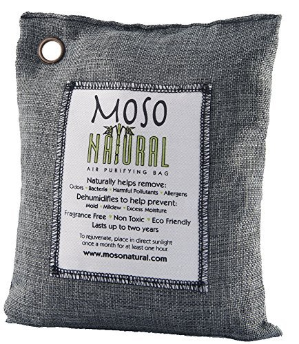 Moso Natural Air Purifying Bag 500g Charcoal Color Naturally Removes Odors, Allergens and Harmful Pollutants. Prevents Mold, Mildew And Bacteria From Forming By Absorbing Excess Moisture. Fragrance Free, Chemical Free And Non Toxic. Reuse For Up To Two Years. (Cigarette Oder Remover compare prices)