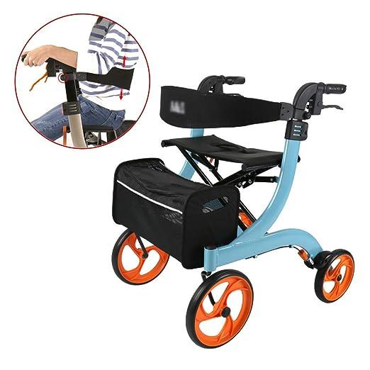 SHOW-WF Aluminio Andador para Ancianos Plegable, Fácil Uso y ...