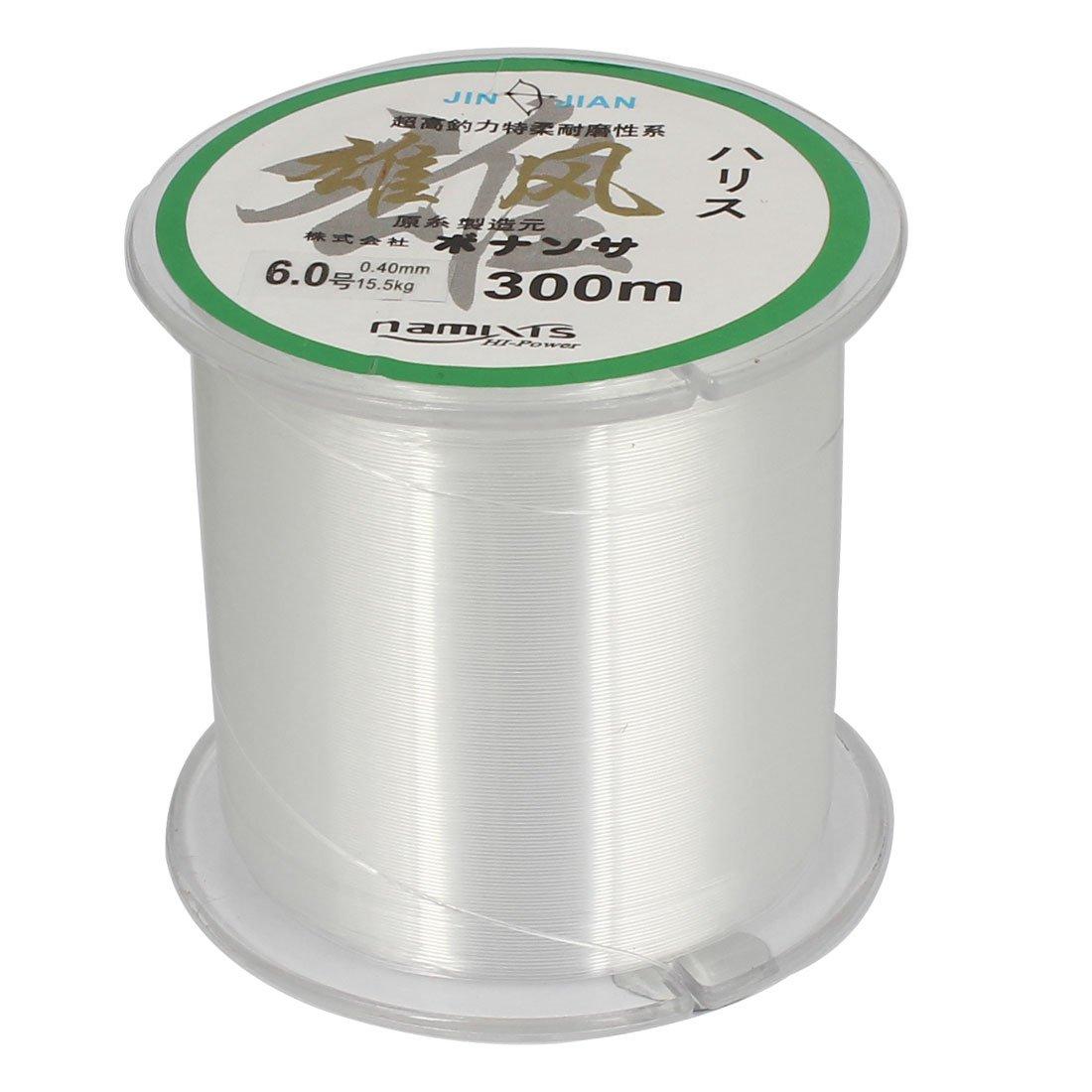 Hilo De Nylon Sedal Carrete 6.0# 15,4 Kg 0.40mm Dia M 299,9 Transparente Sourcingmap a14102100ux0493
