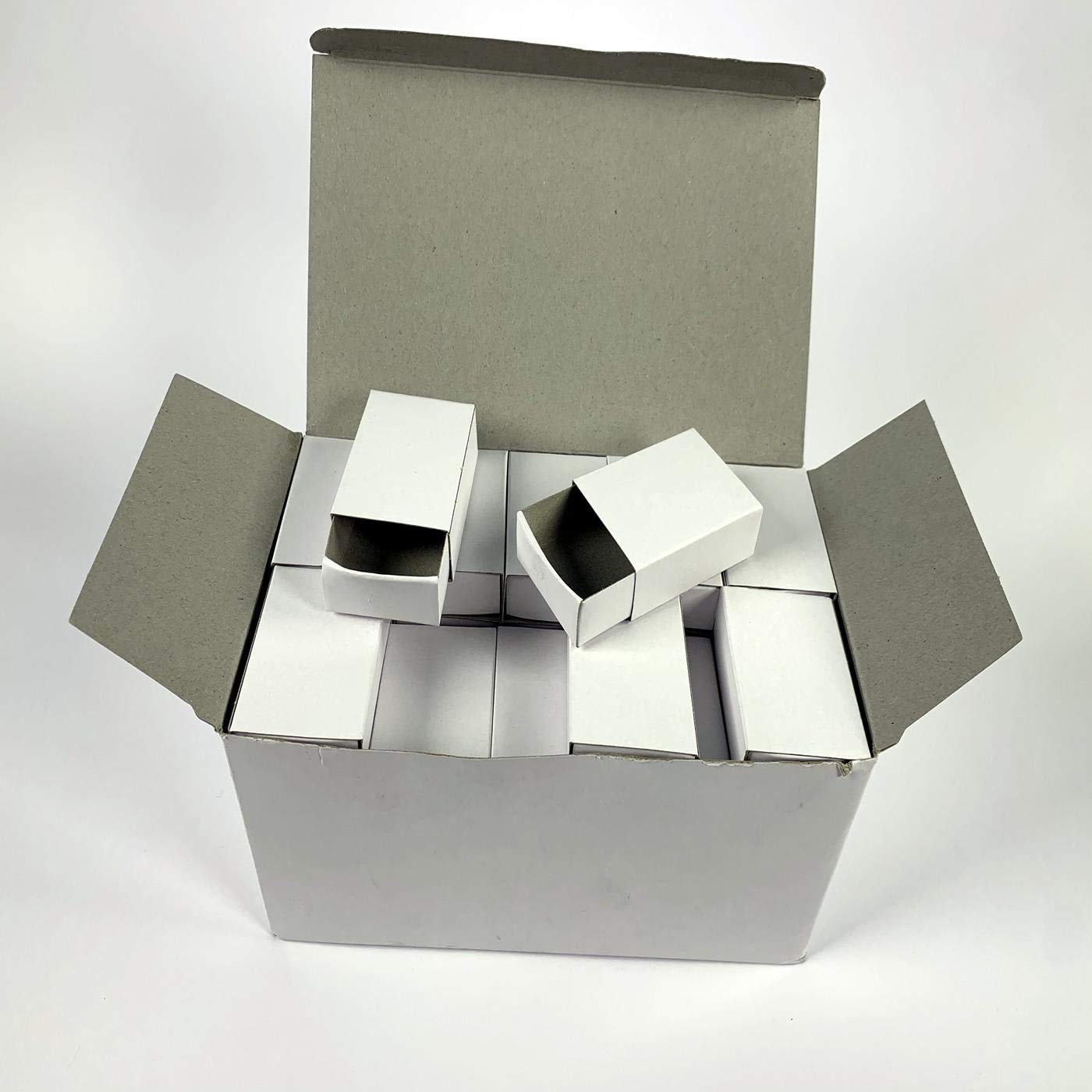 Papier Mache Shapes 24 Plain White Empty Matchboxes for Crafts