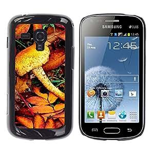 Exotic-Star ( Nature Mist Mushroom ) Fundas Cover Cubre Hard Case Cover para Samsung Galaxy S Duos / S7562