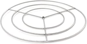 BBQGuys Signature 48-Inch Three-Spoke Round Natural Gas Triple-Ring Burner - Stainless Steel