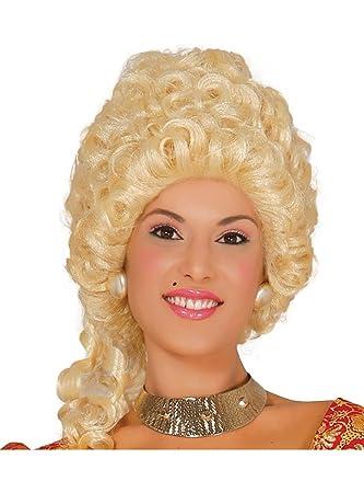 Peluca rubia rizada de Duquesa