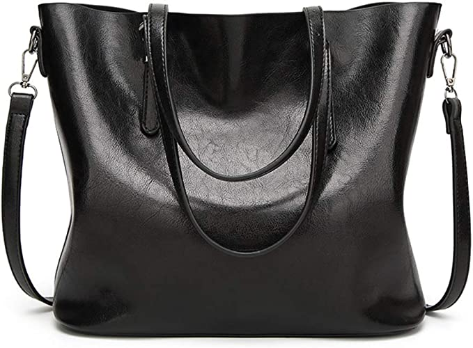 Oil Wax Leather Shoulder Bag Handbags Women Big Capacity Shopping Satchel Totes