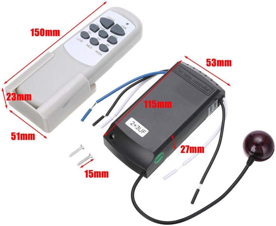 LNIMIKIY Kit di Controllo remoto Ventola 3 velocit/à Trasmettitore e Ricevitore Universale per ventilatori a soffitto per casa//Ufficio//Hotel//Sala espositiva prenotazione accurata e 15 m a Muro