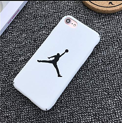 1 piece QINUO NBA Jordan Patterned Matte Case For iPhone 6 6s 7 8 X Hard Plastic Back Cover Phone Case For iPhone 7 8 6S Plus Funda Capa (Best Hacks For Iphone 4s)