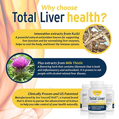 Total Liver Health: Liver Cleanse, Detox, Regeneration, Fatty Liver Reversal. Protection from Infections & Toxins. Trademarked Ingredient Picroliv. by See Yourself Well (Image #1)