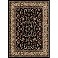 Dean Classic Keshan Ebony Oriental Area Rug Landing Mat (Set of 2) 27 x 39 (2x3)