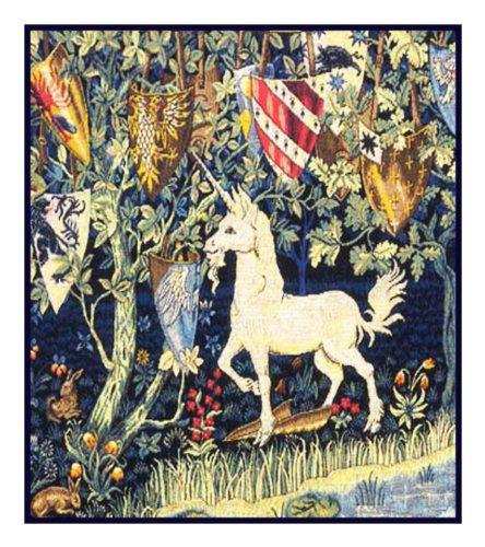 Heraldry Unicorn by William Morris Counted Cross Stitch Pattern