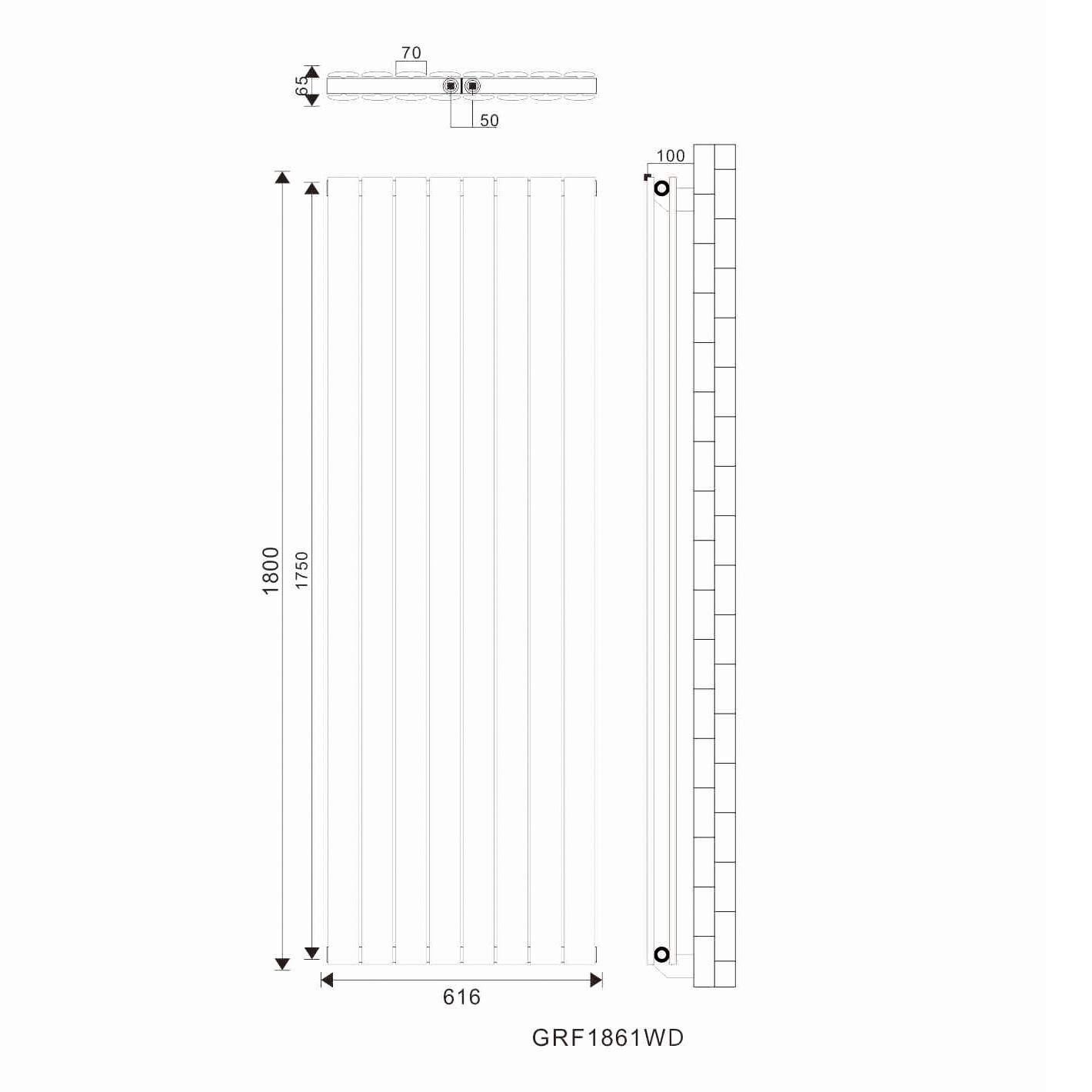 ELEGANT/Design/Flach/Heizk/örper/1800/x/308/mm/Wei/ß/Badheizk/örper/Doppellagig/Heizkoerper/Vertikal/Paneelheizk/örper