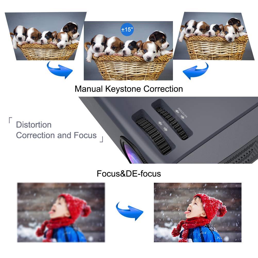 4500 Lux R/étroprojecteur Business Office Compatible avec PC Ordinateur Portable Cl/é TV PS4 HDMI VGA TF USB AV Vid/éoprojecteur LCD Cin/éma Maison 50000 Heures avec Prise en Charge 1080p Full HD