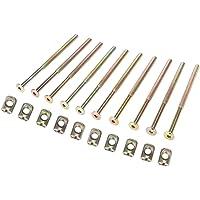 10 stuks 120mm M6 Koolstofstalen Meubelbouten Assortiment Kit Mini Maat Solide Roestbescherming 6mm Vatmoeren Connector…