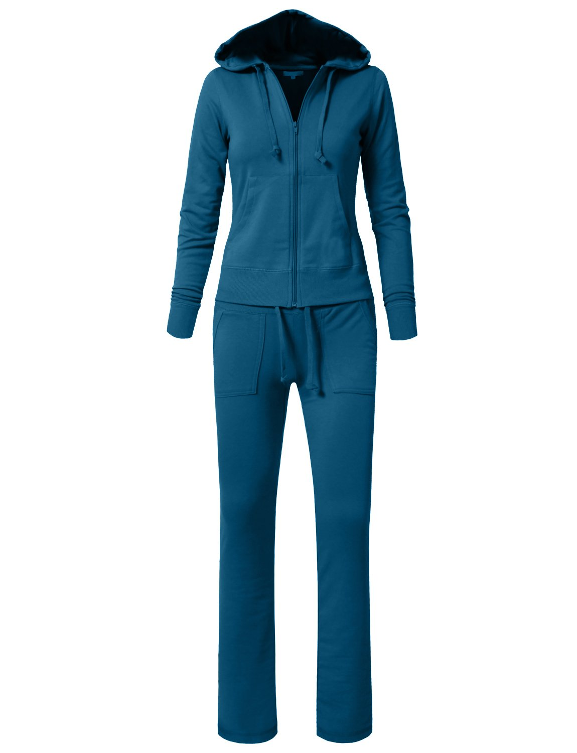 NE PEOPLE Womens Casual Hoodie and Sweatpants Basic Tracksuit Set S-3XL,Newts01-teal,Large
