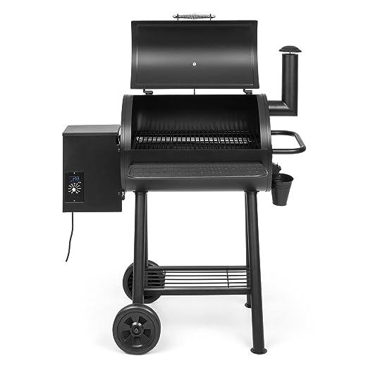 Klarstein The Boss Barbacoa de Pellet • Grill ahumadora • Parrilla de poca generación de Humo • Cocción indirecta, ahumar y Mantener Calor • Temperatura ...