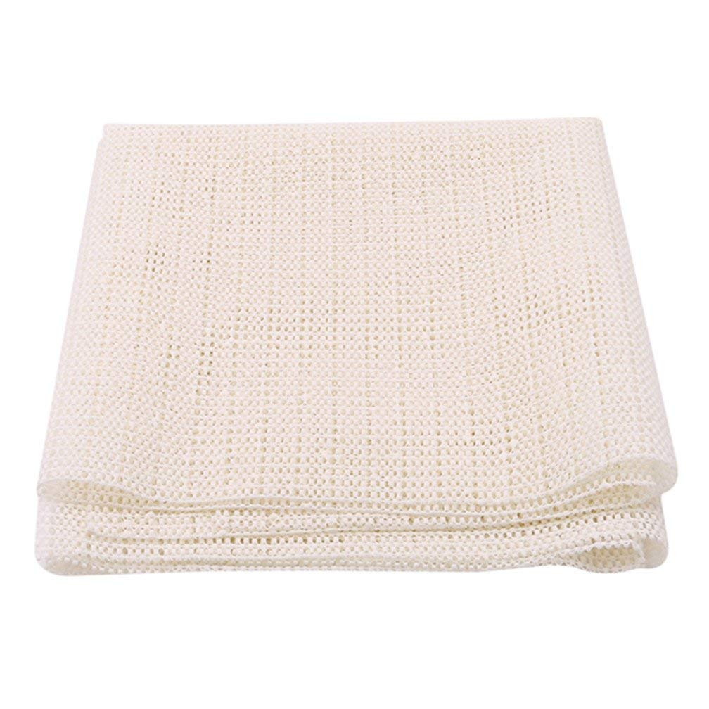 Potelin Premium Quality PVC Anti-Slip Shower Mat Waterproof Anti-Bacterial Bath Pads for Bathroom Beige, 40 60cm