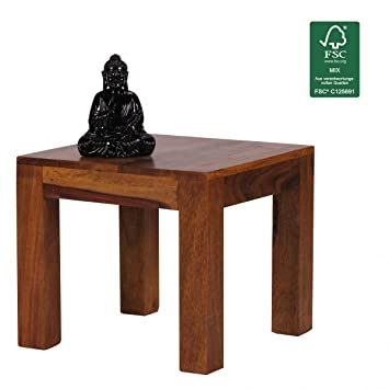FineBuy Couchtisch Massiv-Holz Sheesham 45 cm breit Wohnzimmer ...