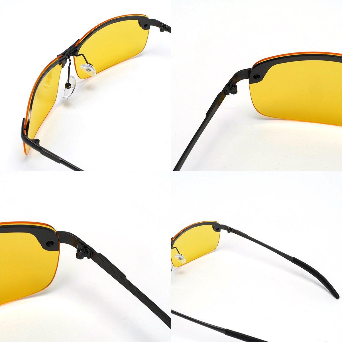 New Men High-End Night Vision Polarized UV400 Driving Glasses Aviator Sunglasses VOSO